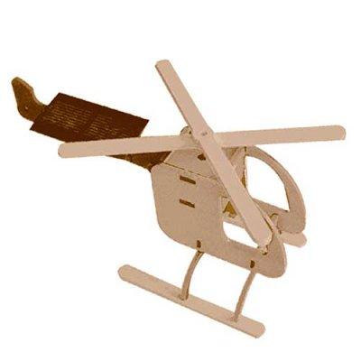 Solar-Holzbausatz Hubschrauber