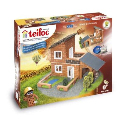 Teifoc Steinbaukasten Villa mit Garage 4700