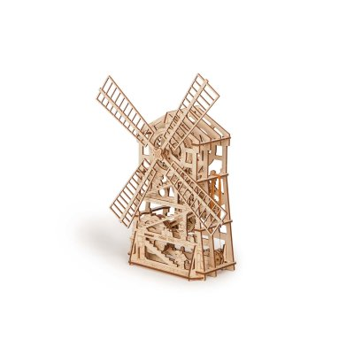 Holzbausatz Windmühle mit Motor